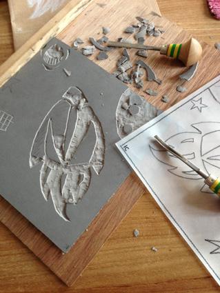 Gravure sur lino