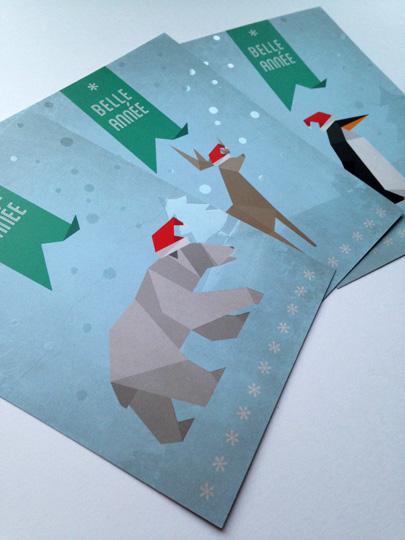 Cartes de voeux origamis
